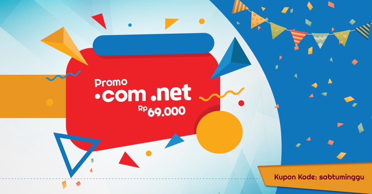 Domain COM NET Murah hanya IDR 69.000