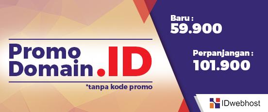 Promo Domain ID hanya 54000
