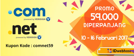 Domain COM NET semurah 59.000