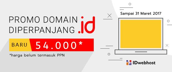 Promo domain .ID 54.000 DIPERPANJANG