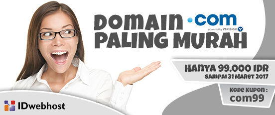 DOMAIN .COM PALING MURAH HANYA 99.000 IDR