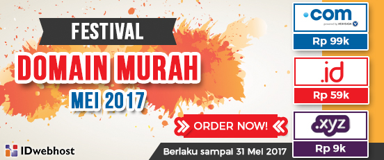 FESTIVAL DOMAIN MURAH MEI 2017
