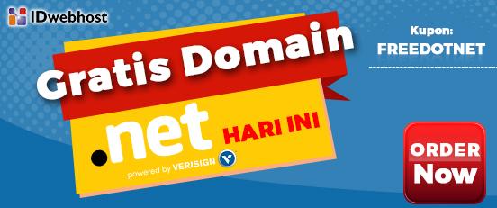 GRATIS DOMAIN .NET HARI INI