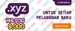 Promo Domain XYZ Paling Murah Sedunia