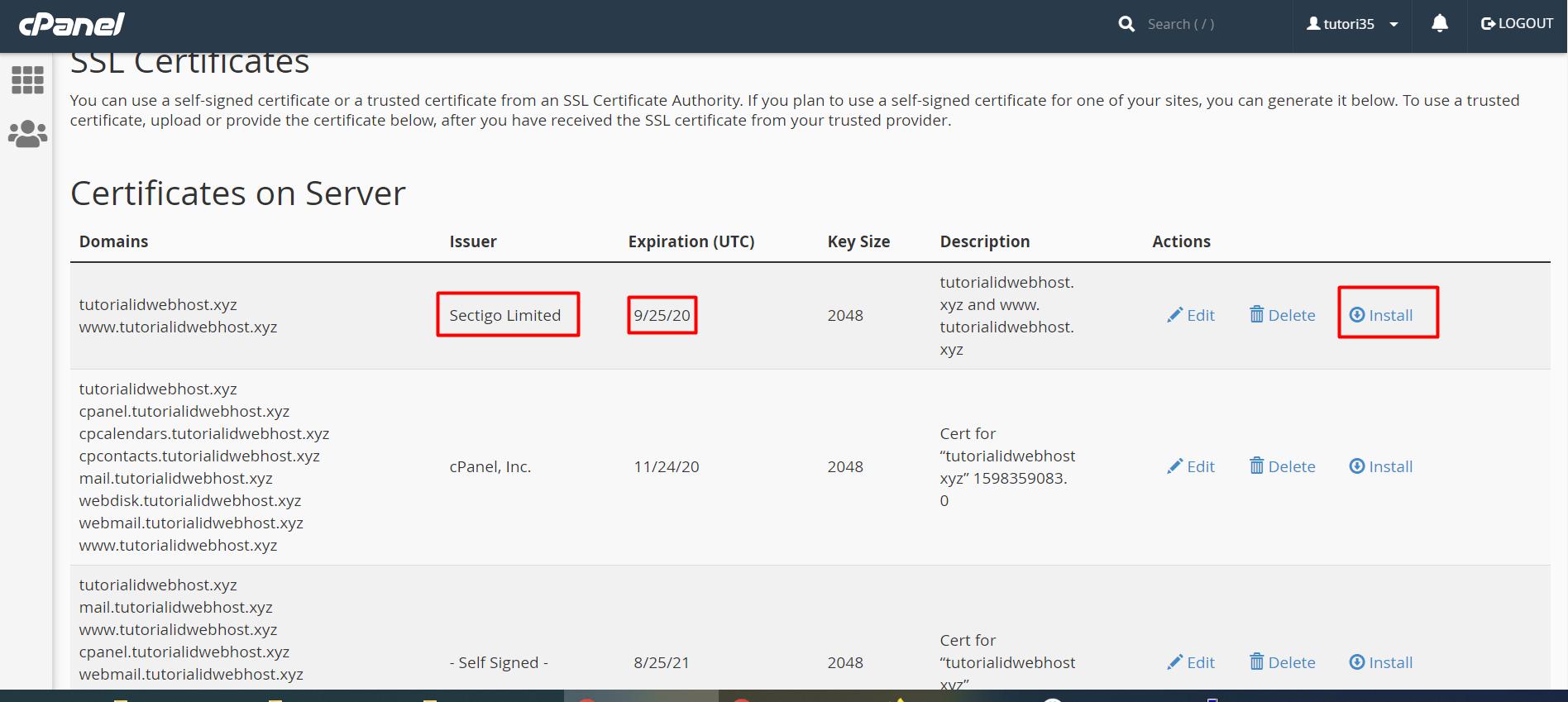 instal SSL