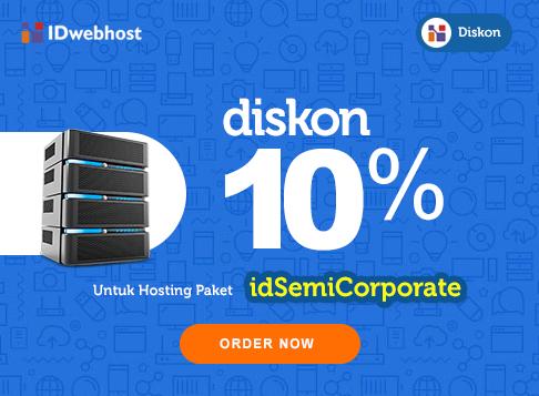 Diskon Hosting 10 % idSemiCorporate Plus Gratis Domain