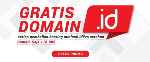 Gratis Domain ID minimal idPro setahun