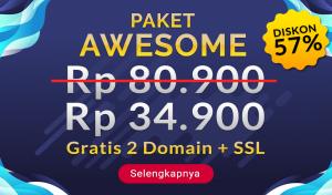 Diskon Hosting 57% Plus Gratis Domain