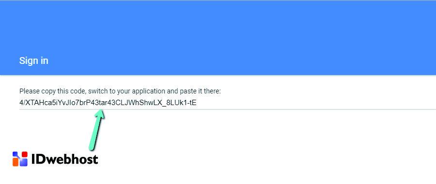 Kode Akses Anda Untuk Memasang Google Analytics