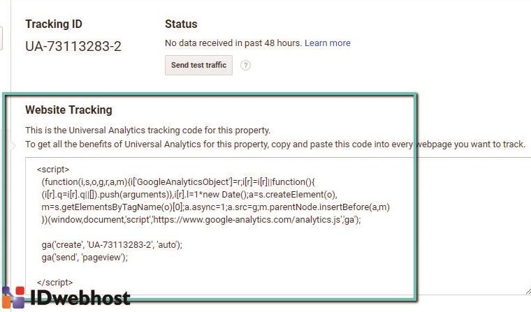 Kode Pelacakan Google Analytics