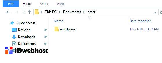 Menyalin Folder WordPress Untuk Cara Install WordPress di Xampp