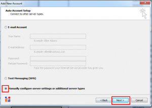 Setting Email Ms Outlook 2010