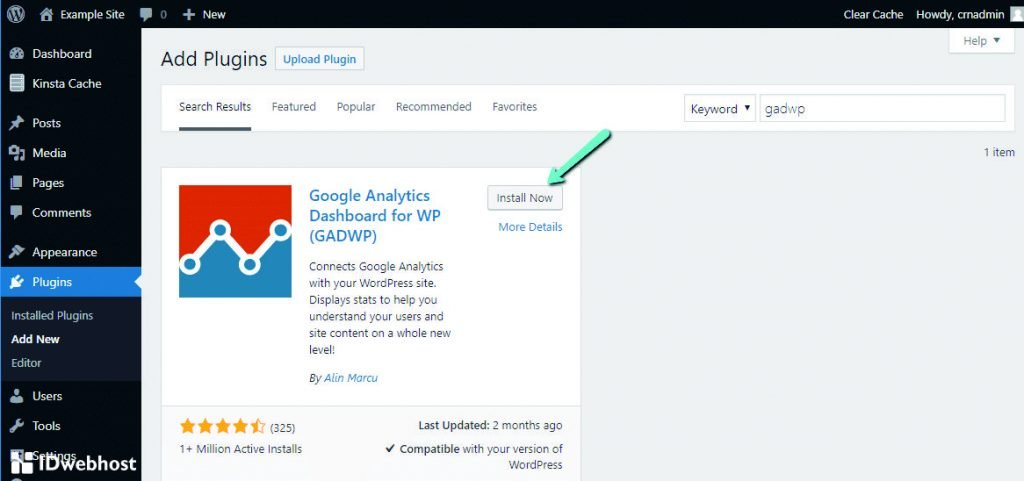 Plugin Google Analytics Dahsboard For WP