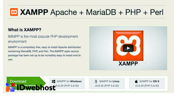 Tampilan Website Xampp Untuk Cara Install WordPress di Xampp