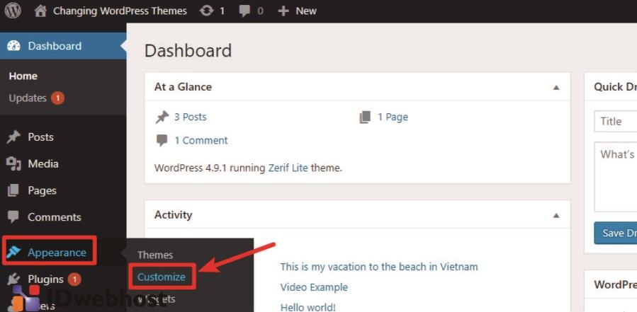 Upload Tema Baru Dengan File Zip