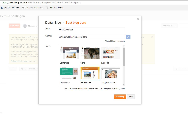 cara membuat blog dan custom domain