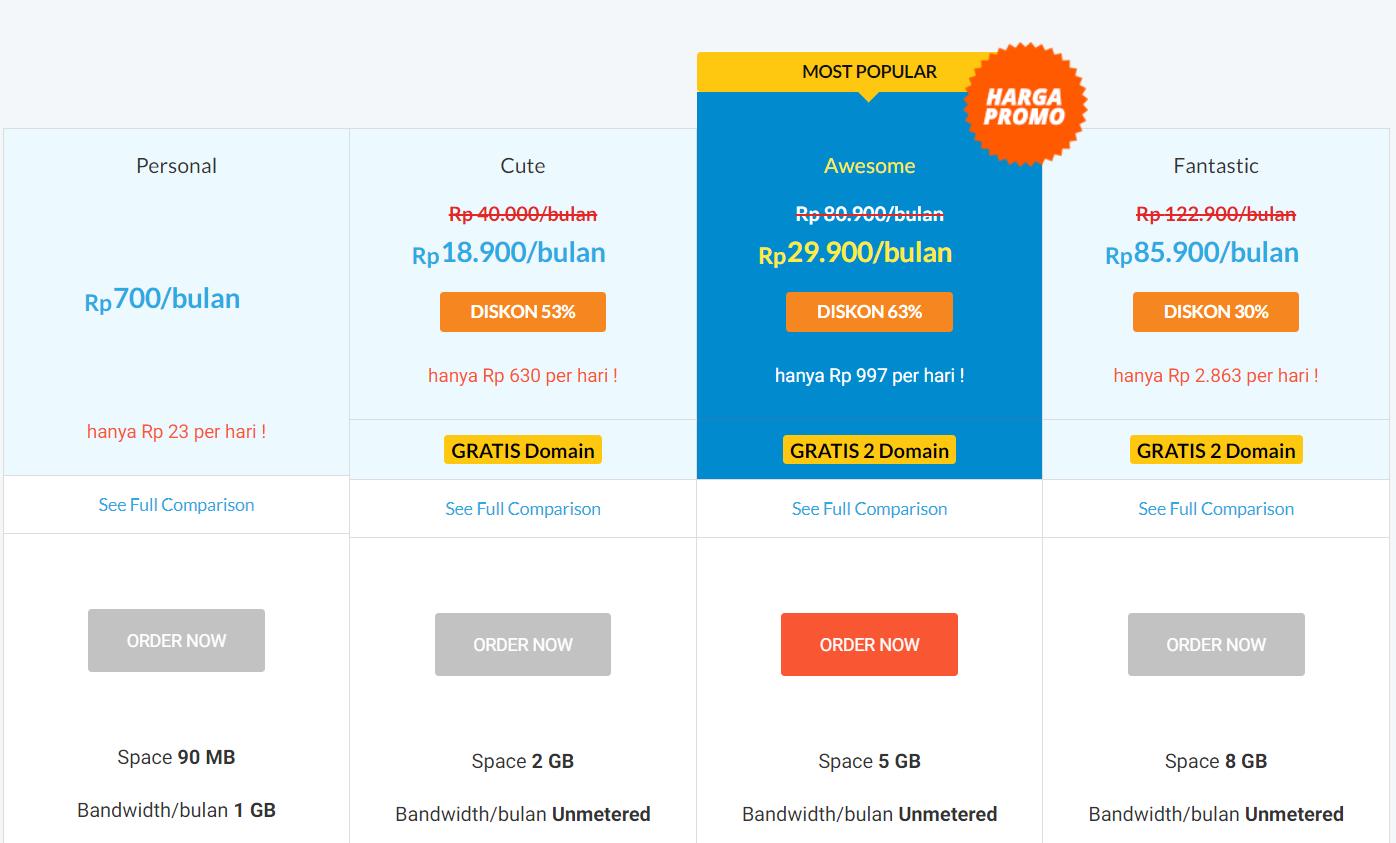 Paket Hosting Murah Terbaru IDwebhost