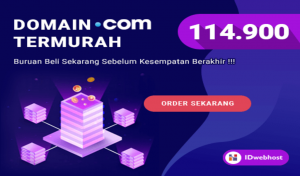 Domain .COM termurah hanya 114.900