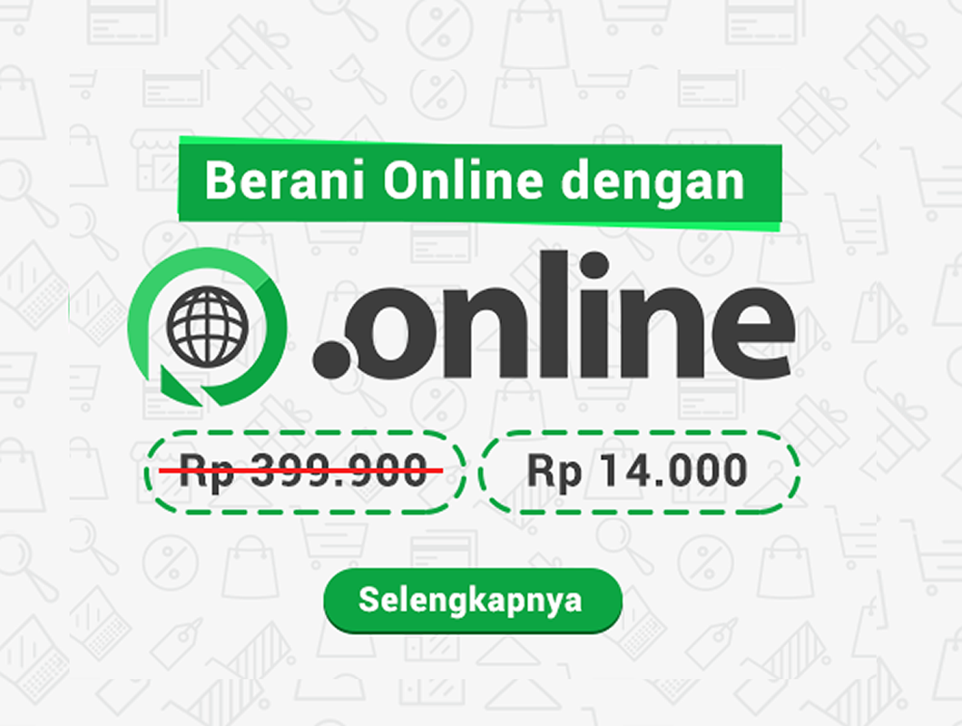 Promo Domain .ONLINE hanya 14.000 IDR