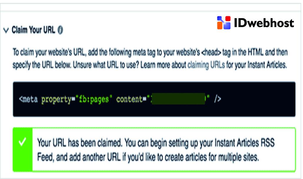 Menambahkan URL Dengan Klaim URL