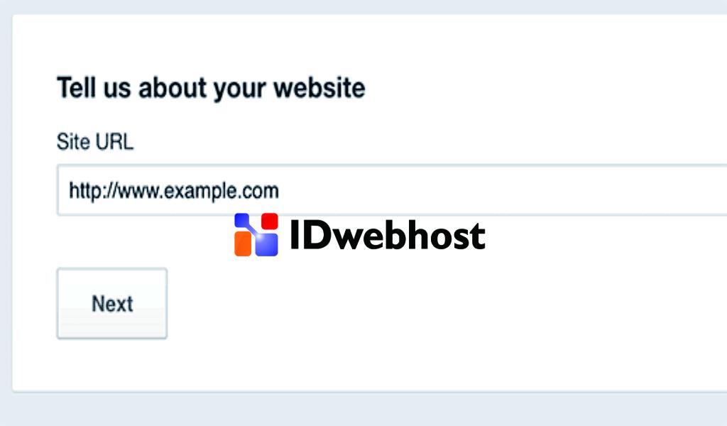 Tambahkan URL Website Anda
