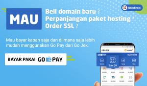 Kini Transaksi di IDwebhost Bisa Menggunakan Go Pay! - Part 3 | Layanan IDwebhost