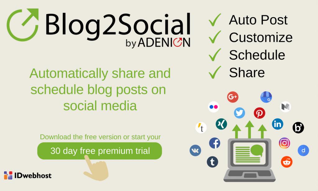 blog2social plugin wordpress
