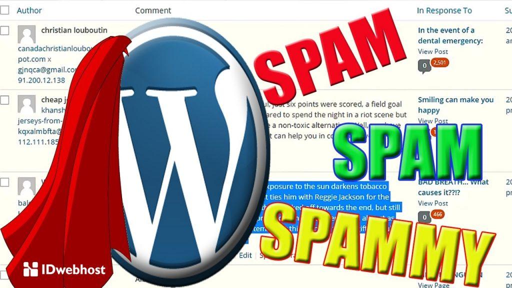 blok komentar spam habis