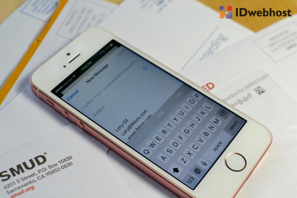 setting email di iphone