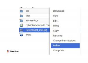 cara menghapus file di file manager