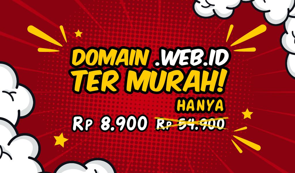 Promo Domain web.id hanya 8.900 IDR