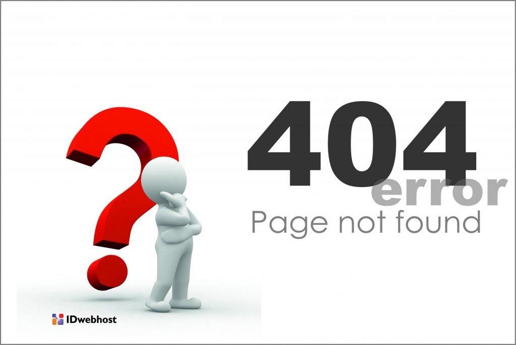 Error 404 Page Not Found di website WordPress