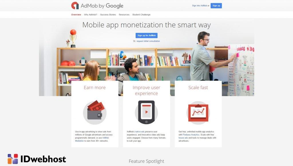 Fitur-fitur Google AdMob