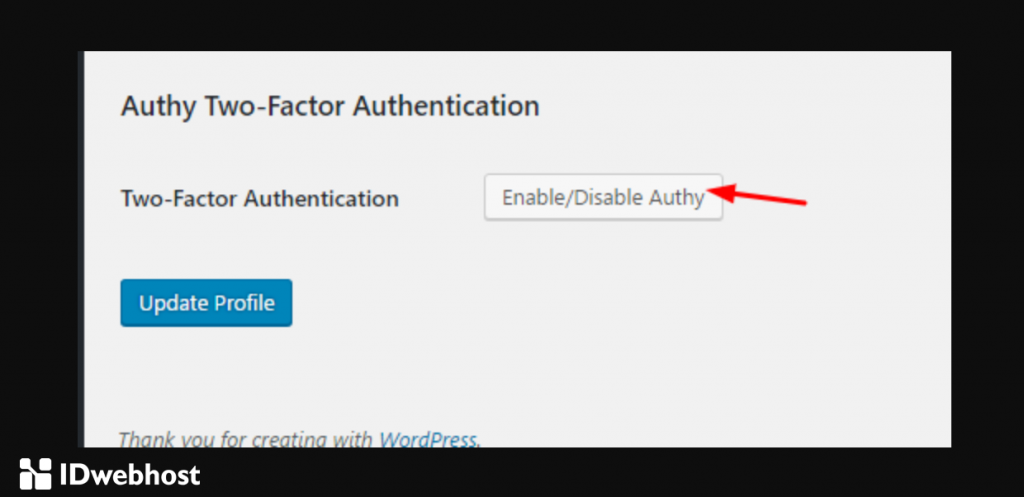 authy profile