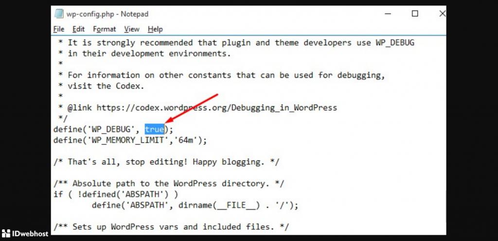 cek error log wordpres