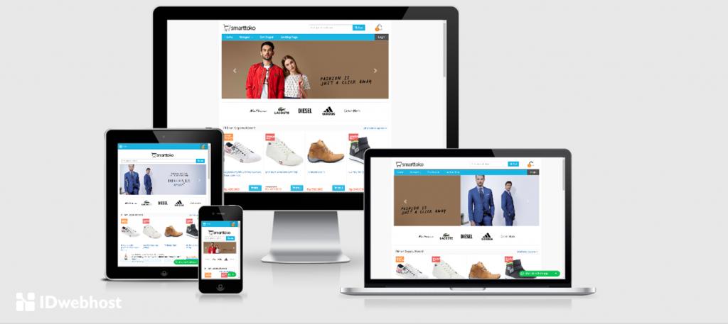 kelebihan lapak instan sebagai template toko online