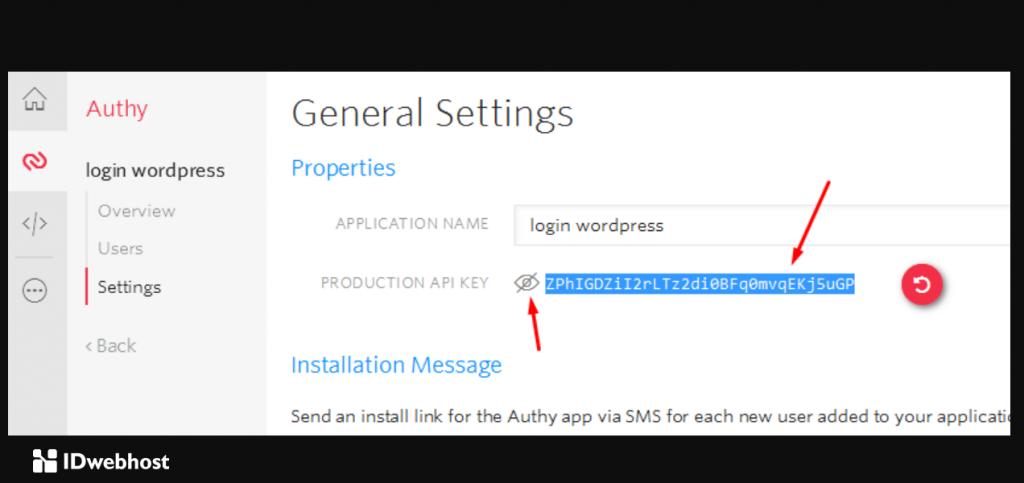 kode API Key Authy