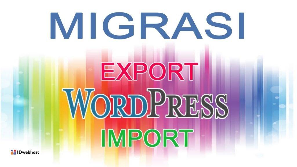 migrasi data blog ke wordpress