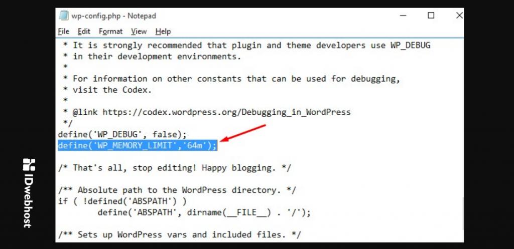 naikkan limit memory wordpress