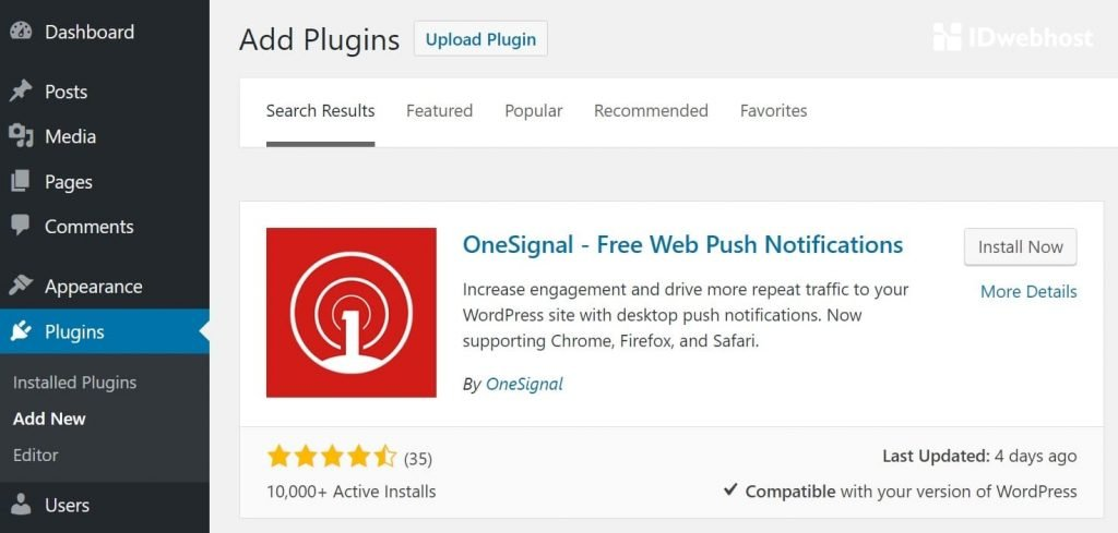 onesignal wordpress push notifications