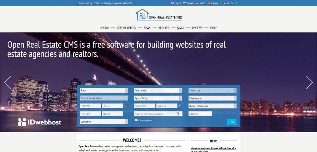 open real estate toko onlie