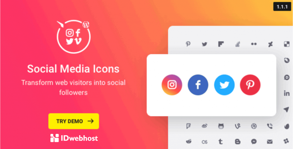 plugin social media icon wordpress