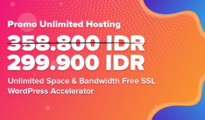Promo Unlimited Hosting hanya 299.900 IDR