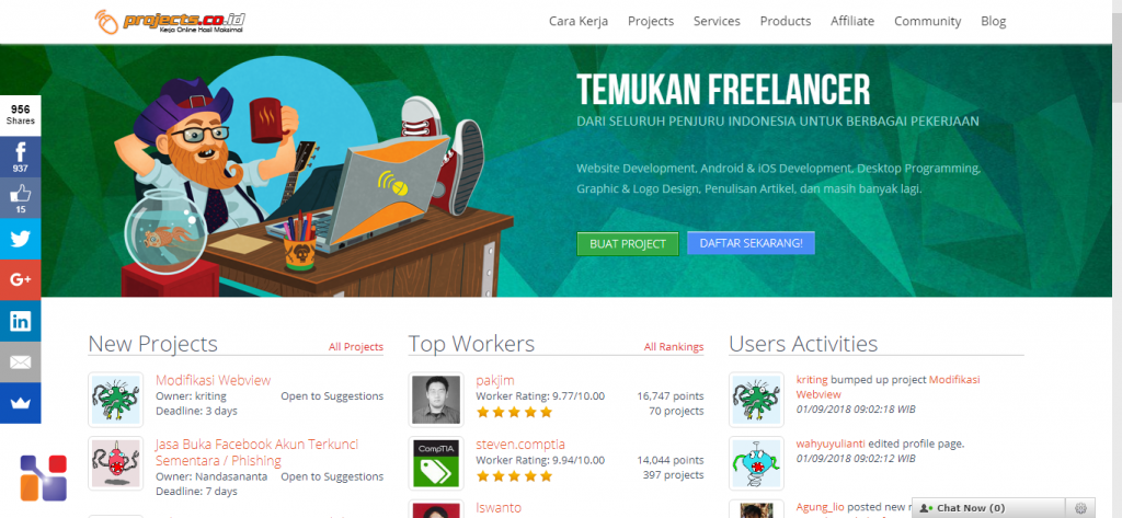 situs freelance project co id