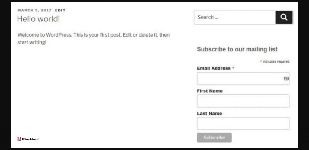 tampilan formulir pendaftaran akun baru