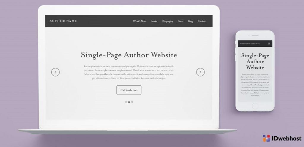website single page cocok untuk siapa