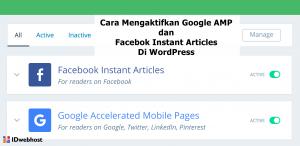 Cara Mengaktifkan Google AMP dan Facebok Instant Articles Di WordPress