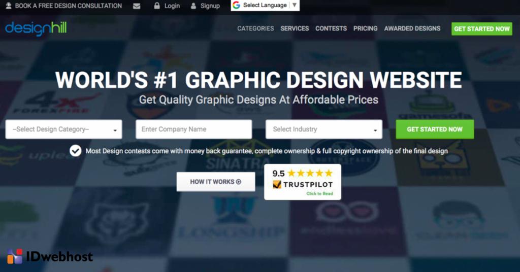 Designhill design logo online