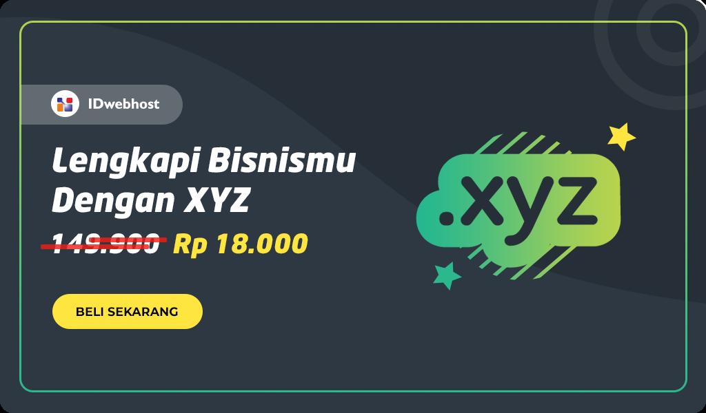 Promo Domain XYZ 18.000 IDR