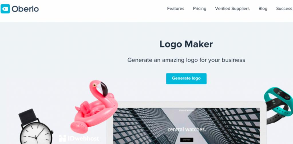 Oberlo design logo online